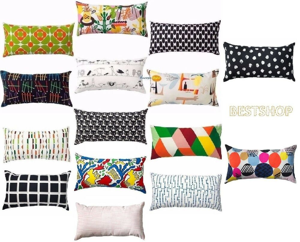 new ikea 12 x24 pillow cushion holds its shap and gives your body soft support ebay. Black Bedroom Furniture Sets. Home Design Ideas