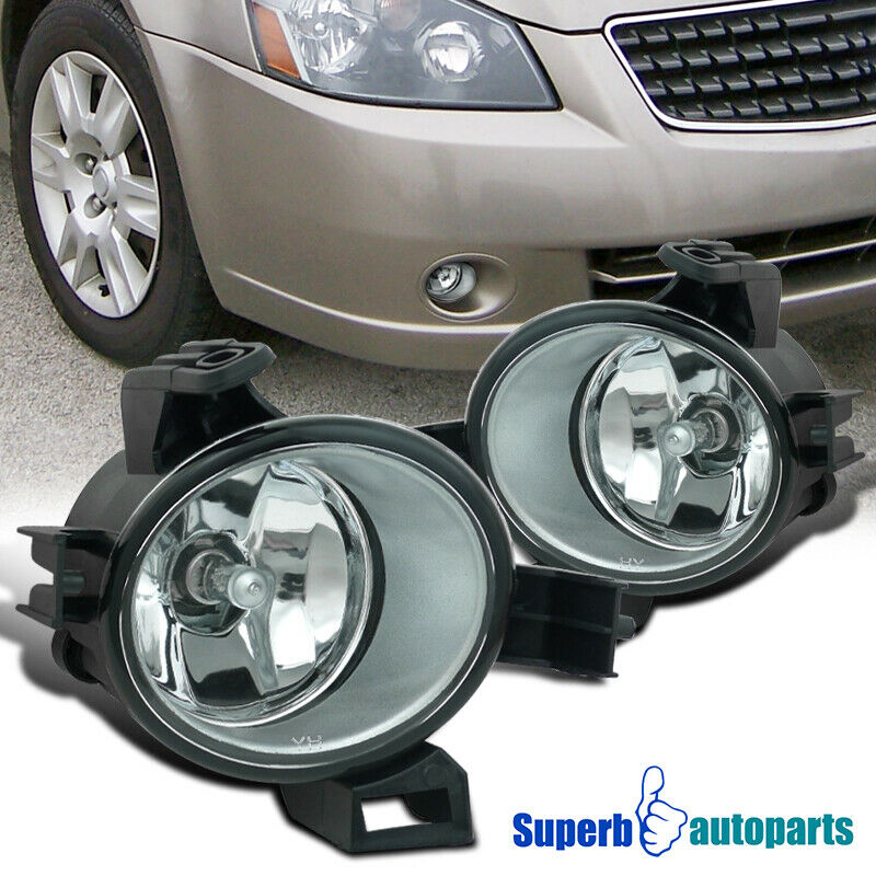 For 2005 2006 Altima Clear Fog Lamps Front Bumper Lights