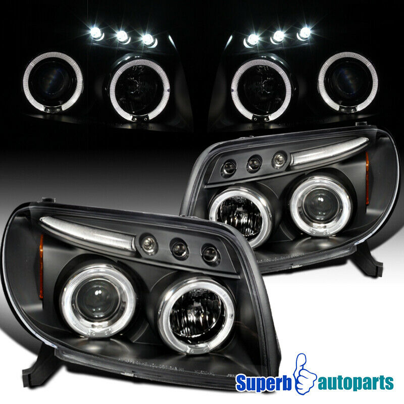 Toyota 4Runner Aftermarket Accessories >> for 03-05 Toyota 4Runner Halo LED Black Projector ...