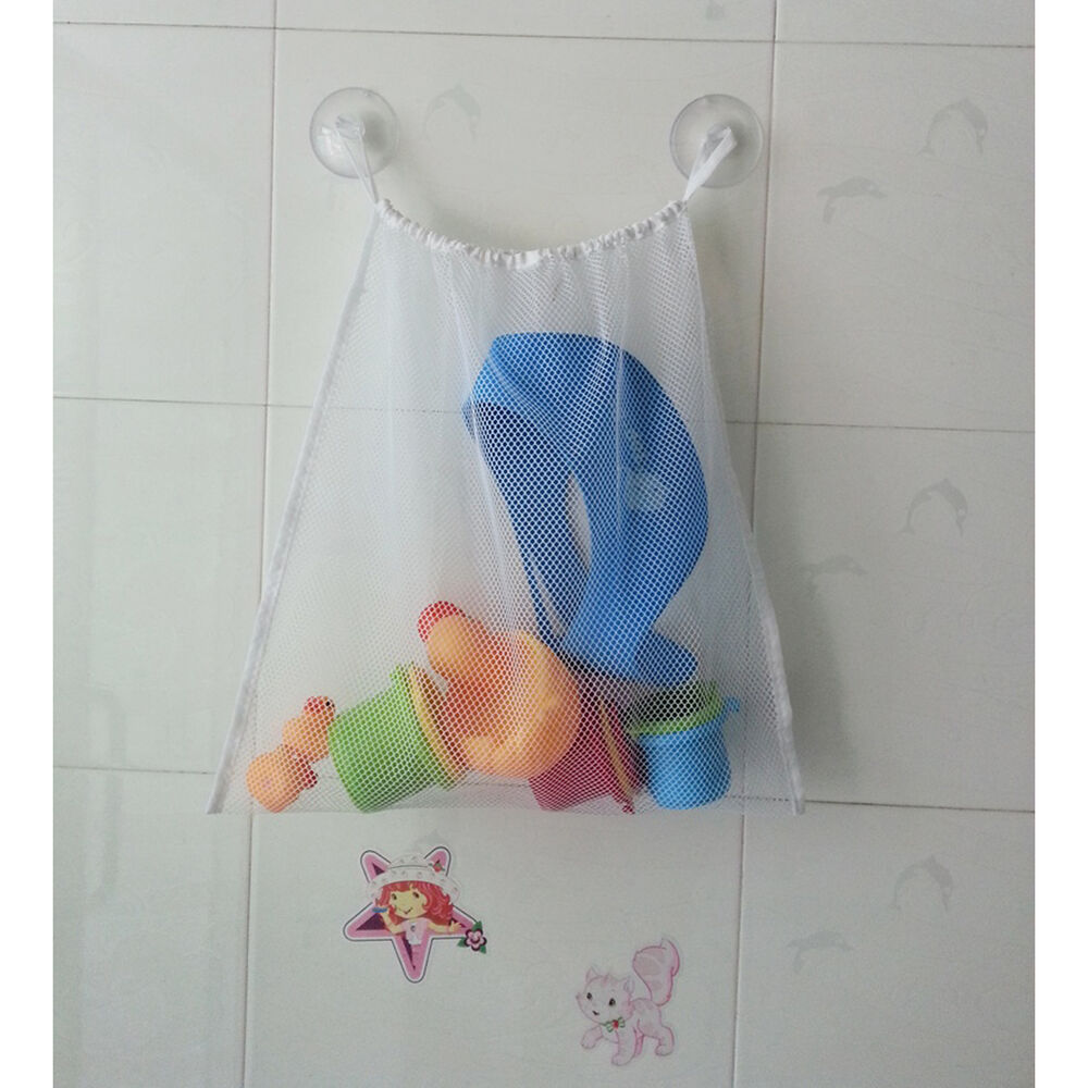 kids baby bath tub toy bag hanging organizer storage bag large 18 x14 ebay. Black Bedroom Furniture Sets. Home Design Ideas