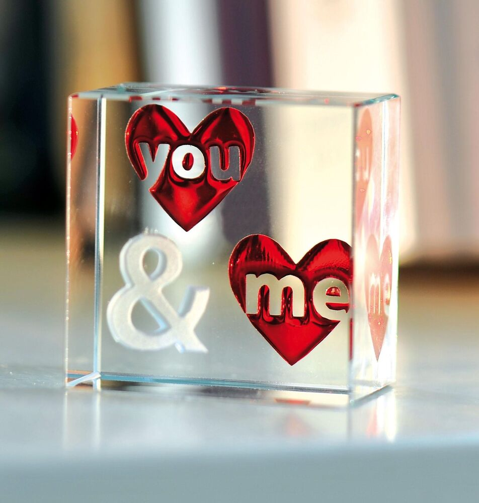 Spaceform You & Me Glass Romantic Love Gift Ideas For Her