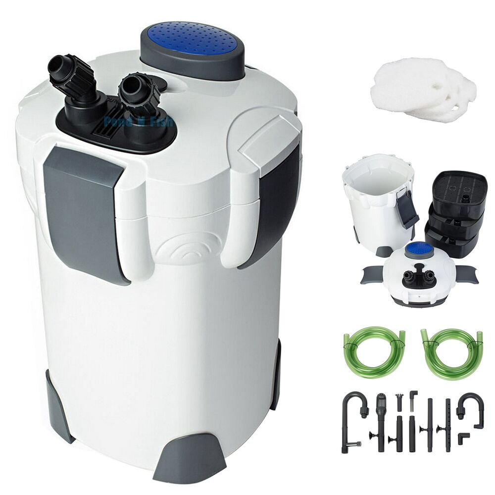 New 3 stage external aquarium canister filter 265gph 75gal for Fish tank with built in filter