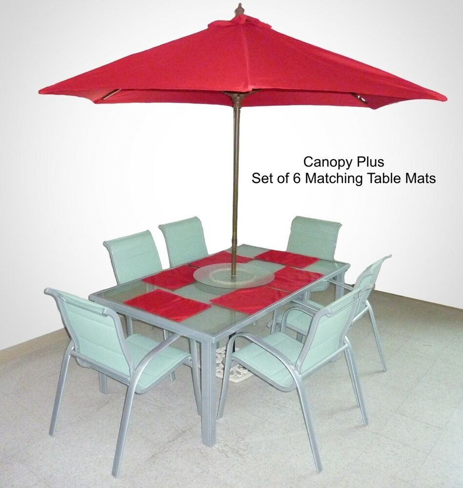 9ft patio garden replacement umbrella canopy cover top w for Patio table umbrella 6 foot