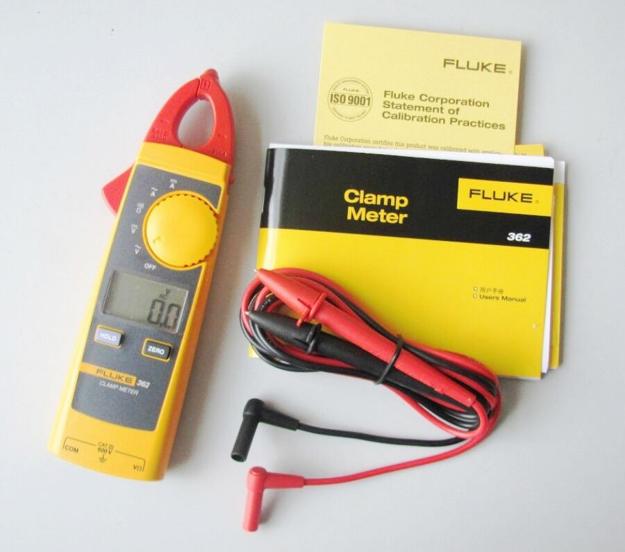 Fluke Voltmeter Tester : New fluke f handheld digital multimeter clamp meter