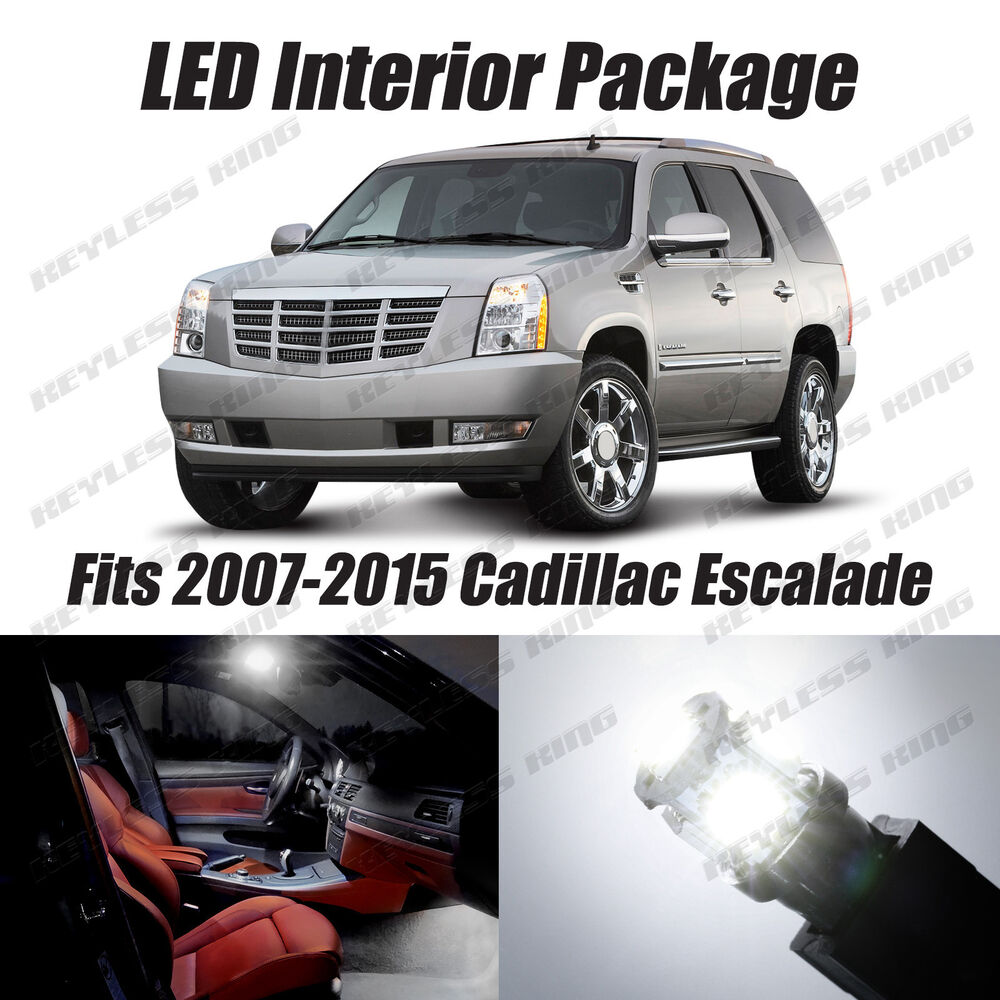 Buy Used Cadillac Escalade: 18pcs LED White Lights Interior Package Kit For Cadillac Escalade 2007-2015