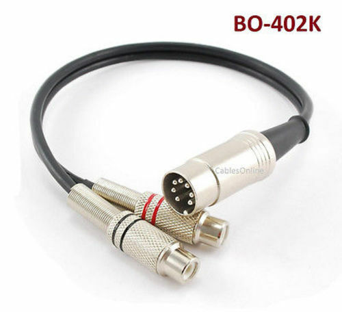 cablesonline 1ft bang olufsen 7 pin din male to 2 rca female audio cable ebay. Black Bedroom Furniture Sets. Home Design Ideas