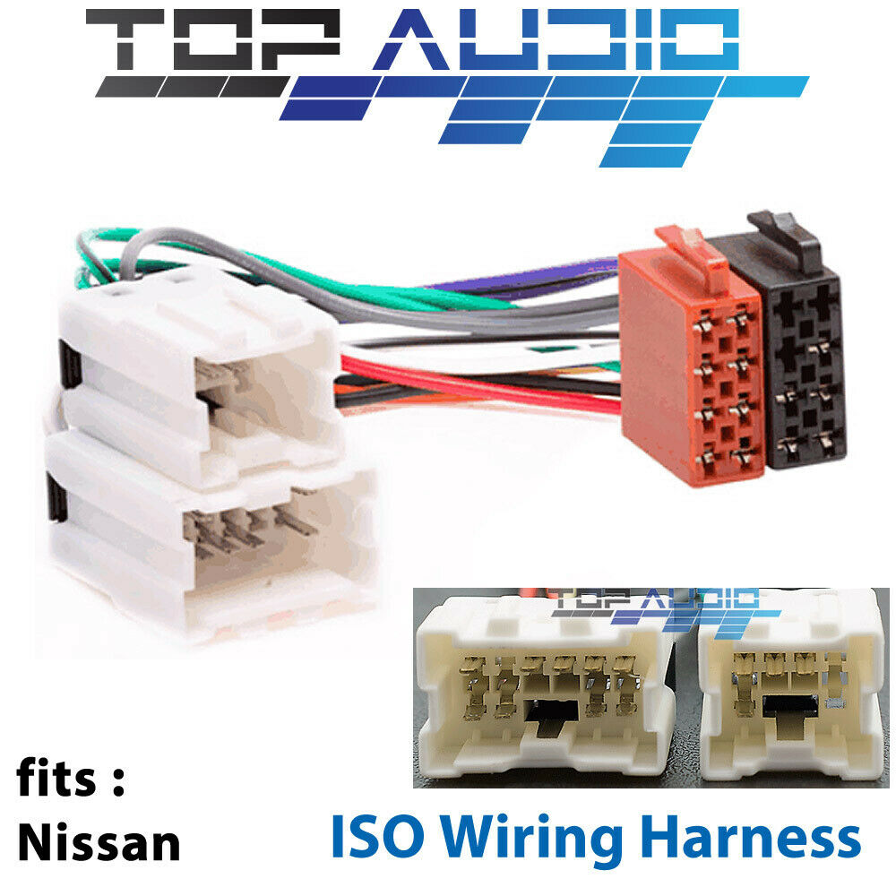 Fit nissan navara d iso wiring harness radio adaptor