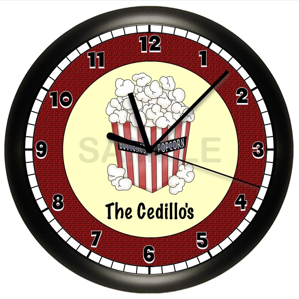 home theater wall clock personalized gift movie night