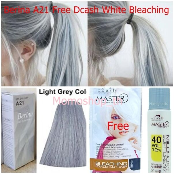 Berina A21 Color Hair Cream Light Gray Permanent Super Hair Dye