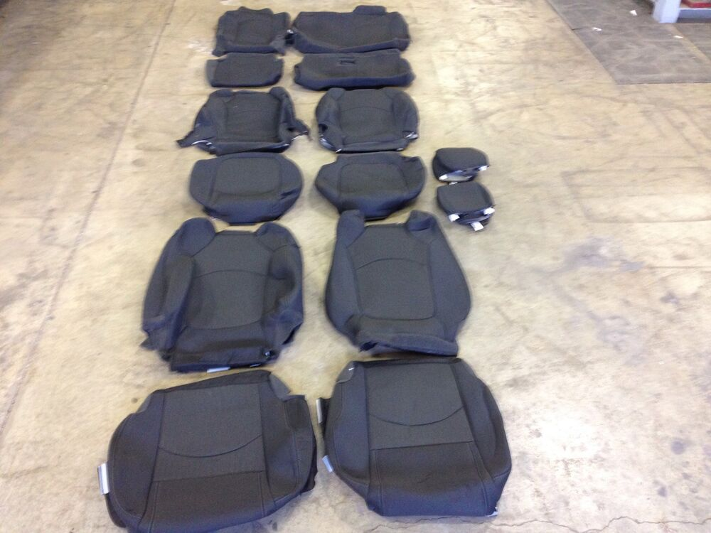 2014 Chevy Silverado Seat Covers >> FACTORY OEM CLOTH SEAT COVER COVERS EBONY BLACK 2015 ...