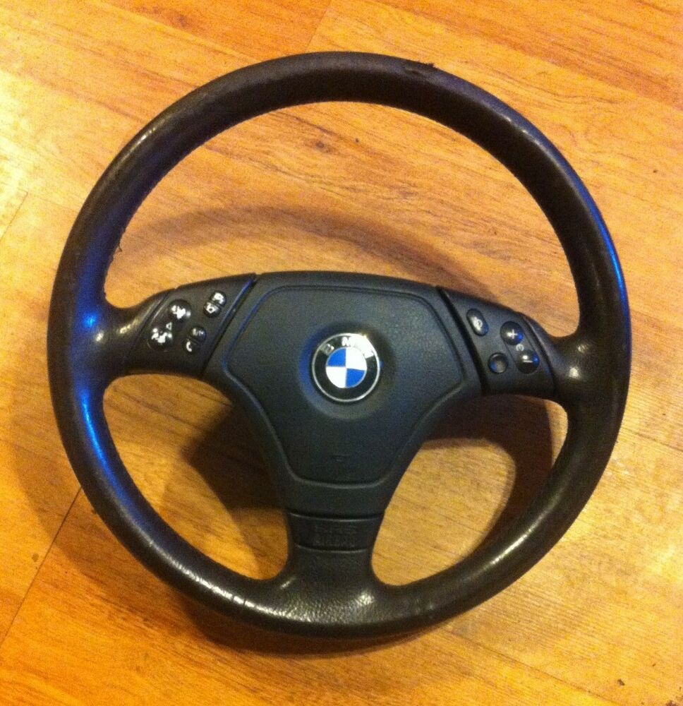 bmw e46 3 spoke multifunction sport steering wheel oem w. Black Bedroom Furniture Sets. Home Design Ideas