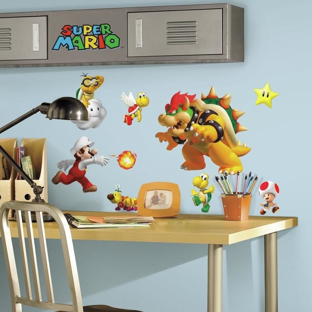 35 Super Mario Nintendo Game Big Wall Decals Stickers