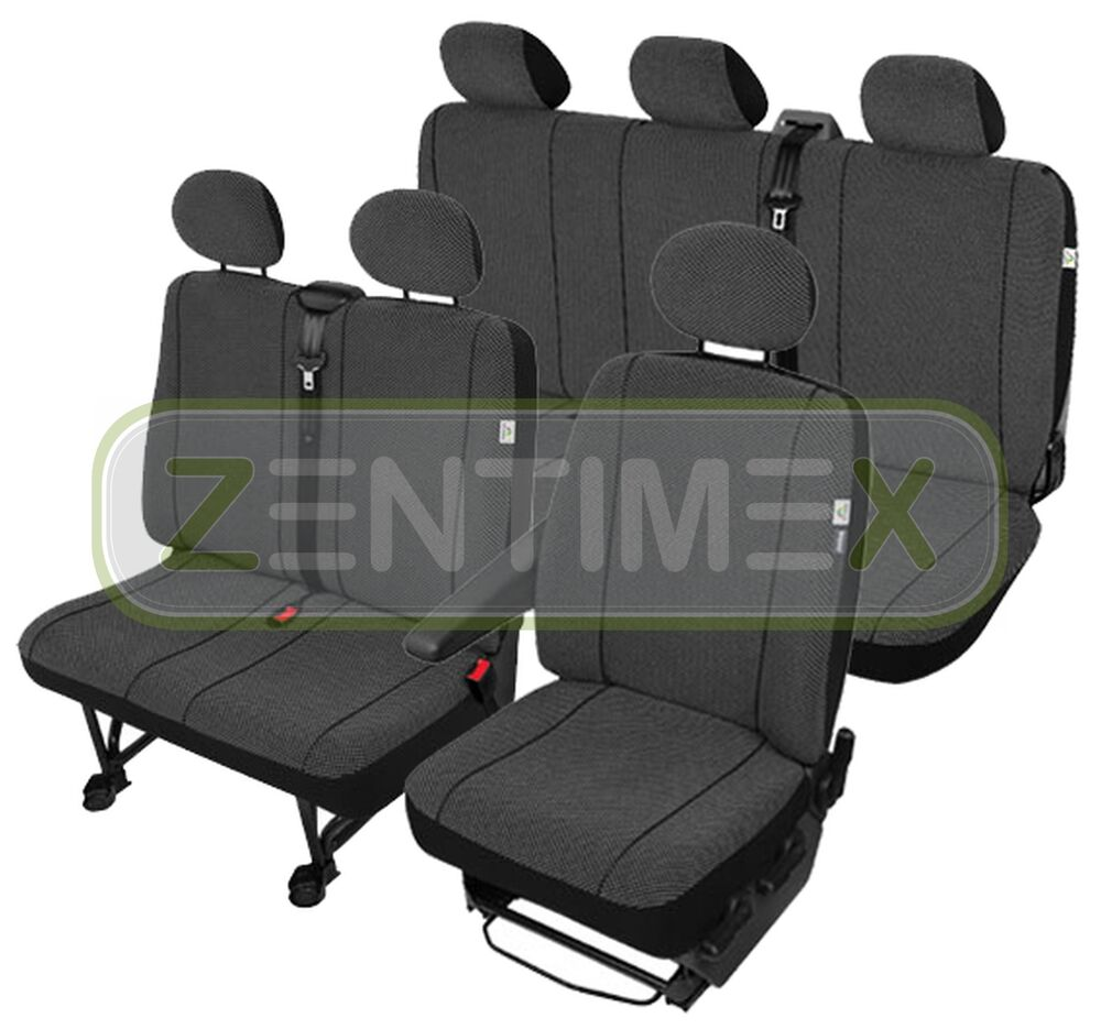 sitzbez ge schonbez ge set sh vw t4 transporter stoff ebay. Black Bedroom Furniture Sets. Home Design Ideas