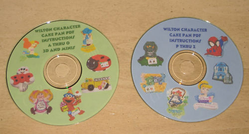 440 Wilton Character Cake Pan Instructions 2 Cd Set Ebay