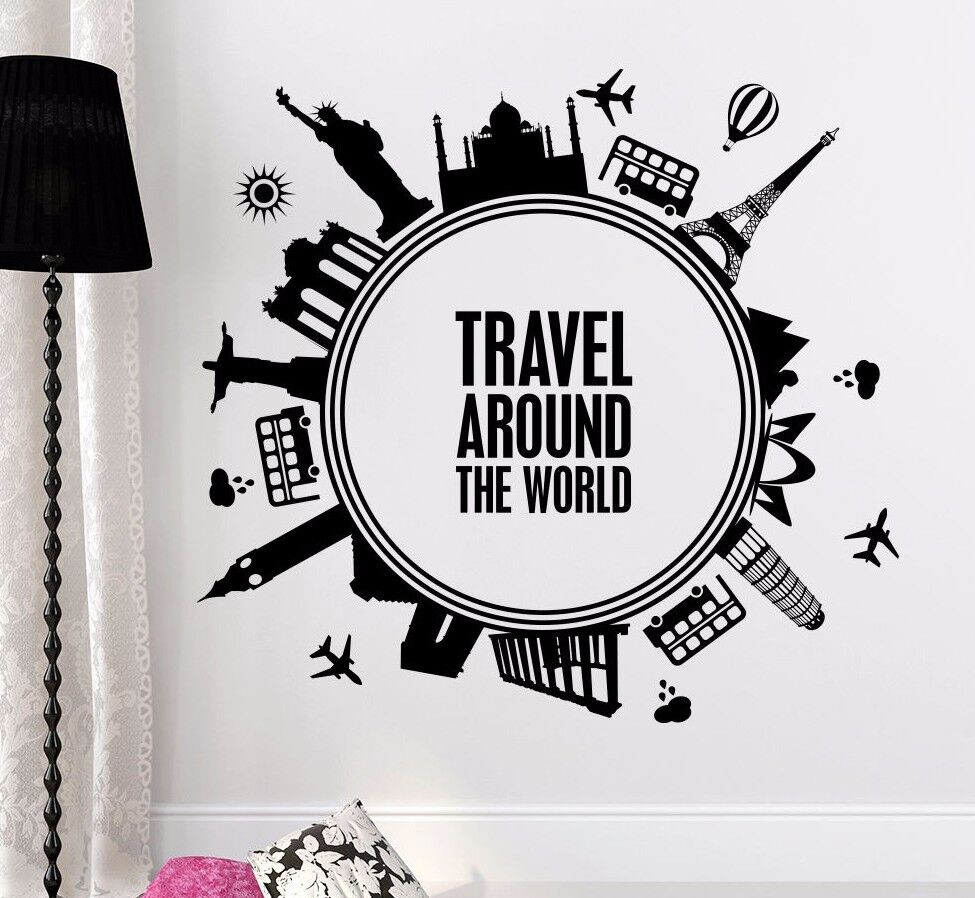 Quotes Wall Decals Travel Around The World Decal Nursery