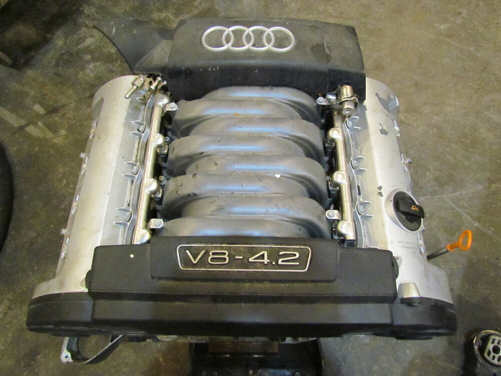 2004 audi a8l 4 2l v8 engine assy see pics 147k ebay. Black Bedroom Furniture Sets. Home Design Ideas