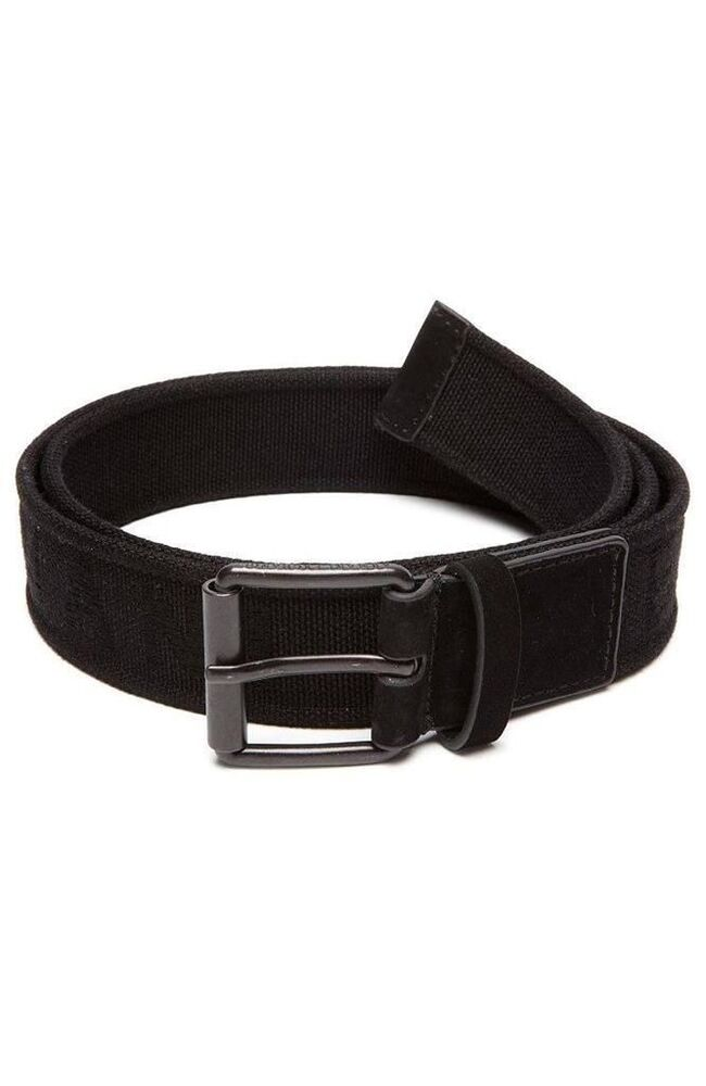 armani exchange mens logo web belt in black size 32 bnwt