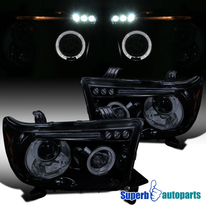 2007 2013 Toyota Tundra Led Halo Projector Headlights