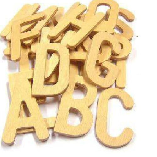 wooden alphabet letters uppercase wooden script style letter templates set of 26 25669