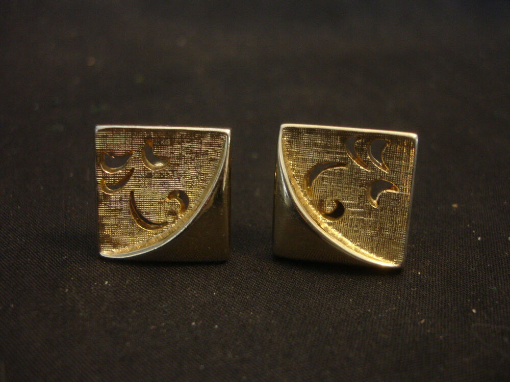 Old vintage gold tone cuff links by swank square jewelry for What is swank jewelry