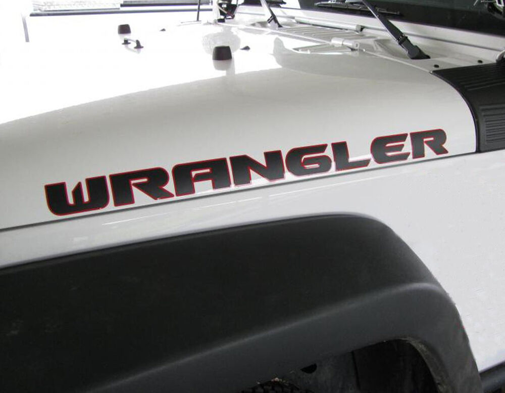 2 Hood Decals For Wrangler Rubicon Cj Yj Tj Jk Vinyl