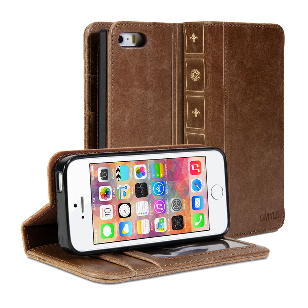 Book Cover Case : Iphone case book wallet vintage for