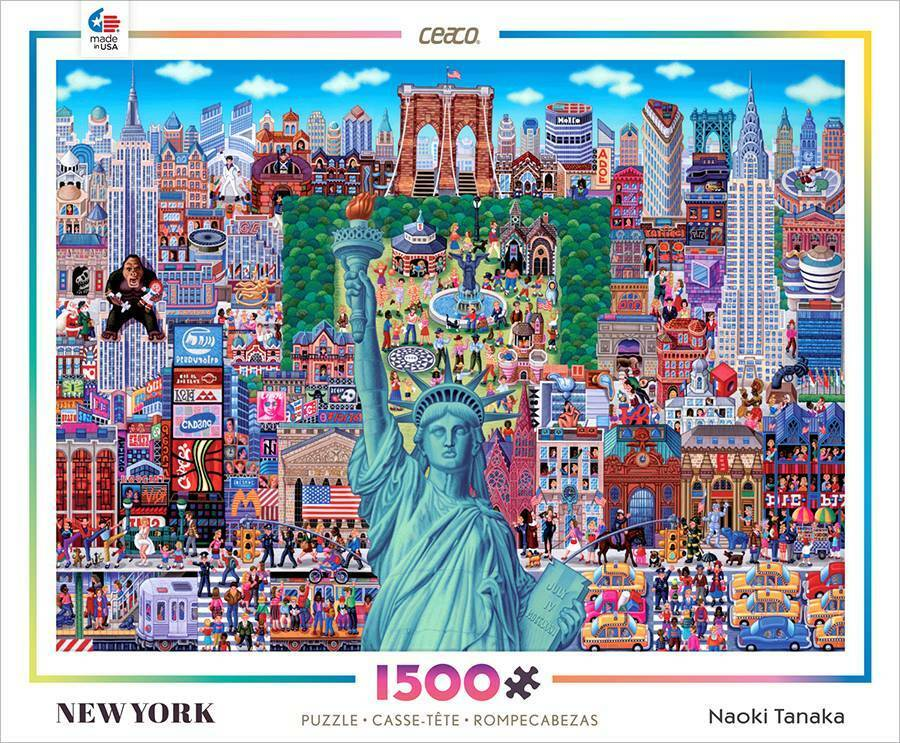 ceaco 1500 series jigsaw puzzle new york naoki tanaka 1500. Black Bedroom Furniture Sets. Home Design Ideas