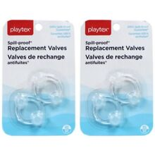 Playtex Spill-Proof Cup Replacement Valves - 2 EA X 2 packs = 4 valves