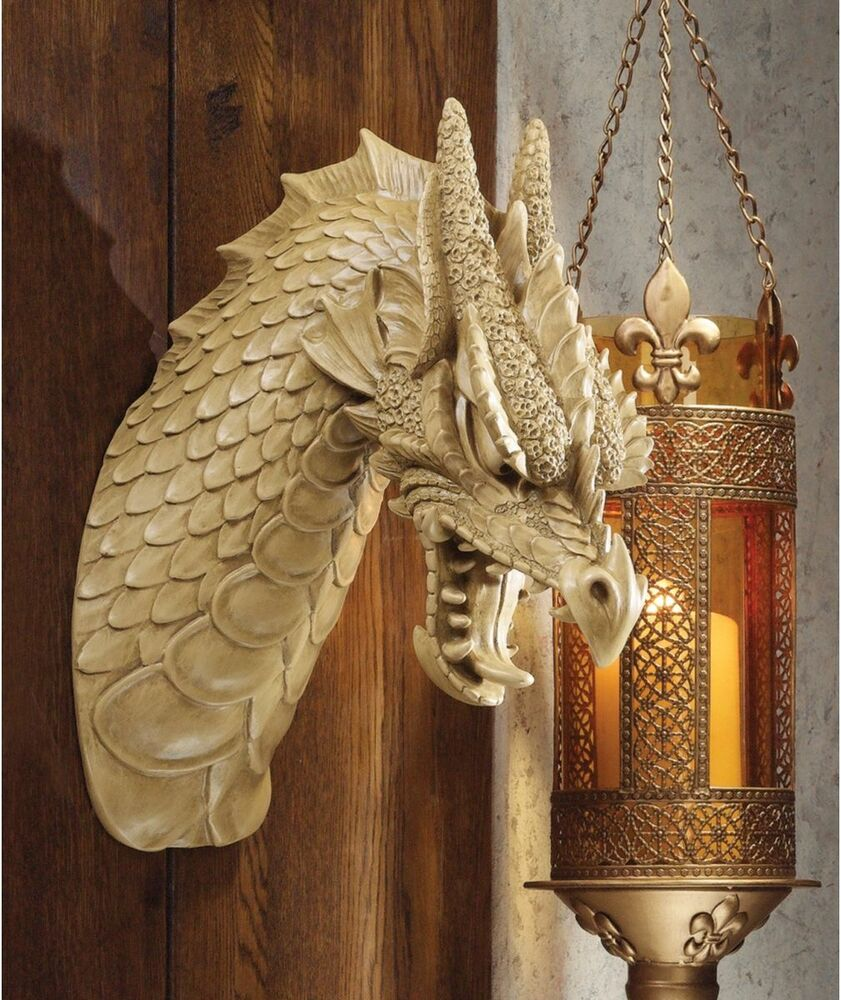 Medieval Beast Gothic Knight's Trophy Wall Mounted Horned ...