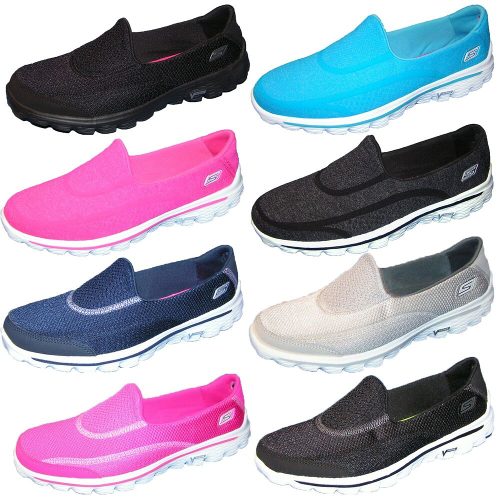 skechers go flex go walk 2 go walk 3 walking schuhe damen slipper sneaker ebay. Black Bedroom Furniture Sets. Home Design Ideas