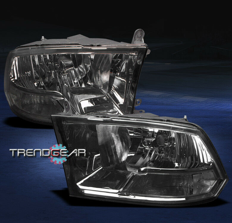 2009 2012 dodge ram pickup crystal headlight lamp smoke. Black Bedroom Furniture Sets. Home Design Ideas