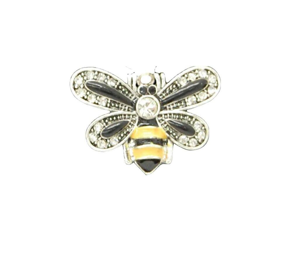 Bumble bee black yellow crystal charm only jewelry for Craft and jewelry supplies