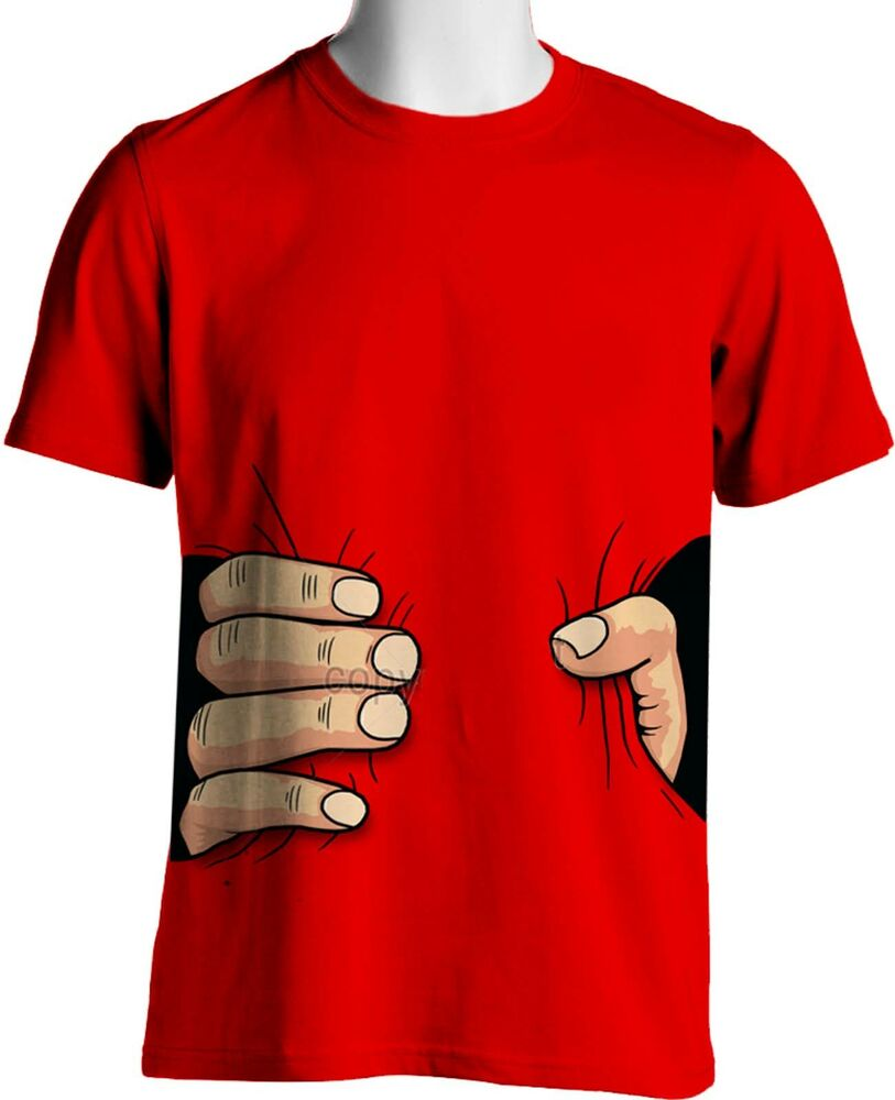 Giant Hand Squeeze Funny Unisex T Shirt Small To 6xl Big