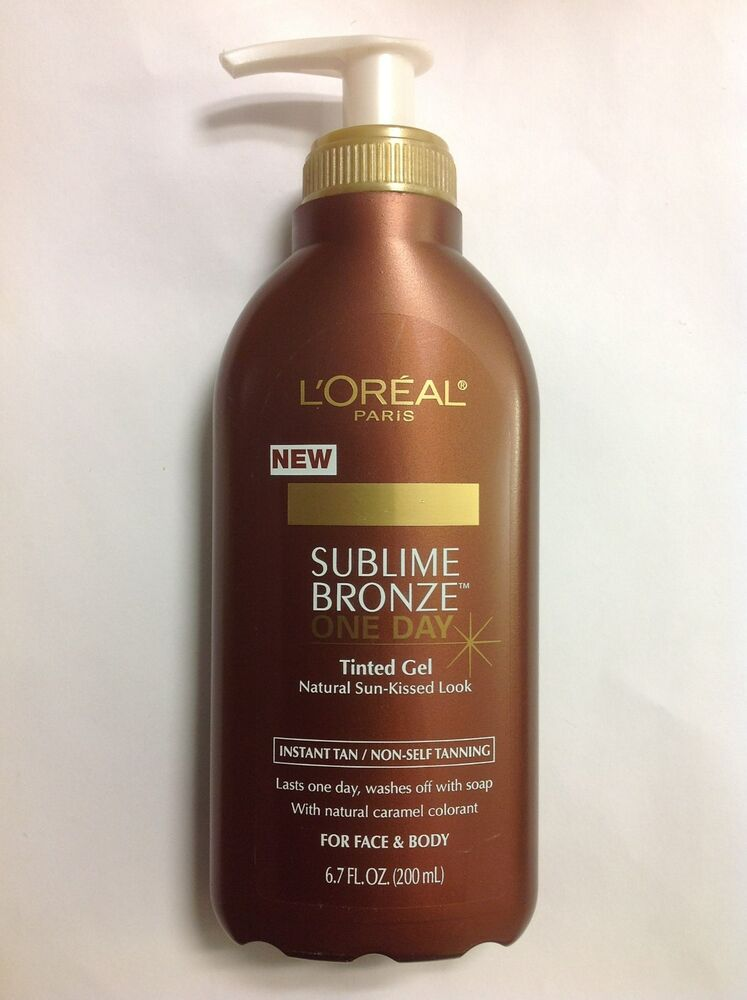 L'OREAL SUBLIME BRONZE ONE DAY TINTED GEL TANNING 6.7 OZ
