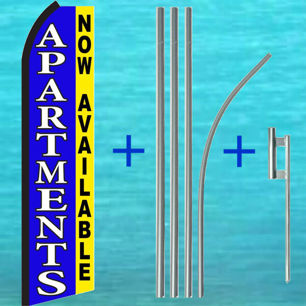 Apartments Available Today: APARTMENTS NOW AVAILABLE SWOOPER FLAG + POLE KIT Flutter