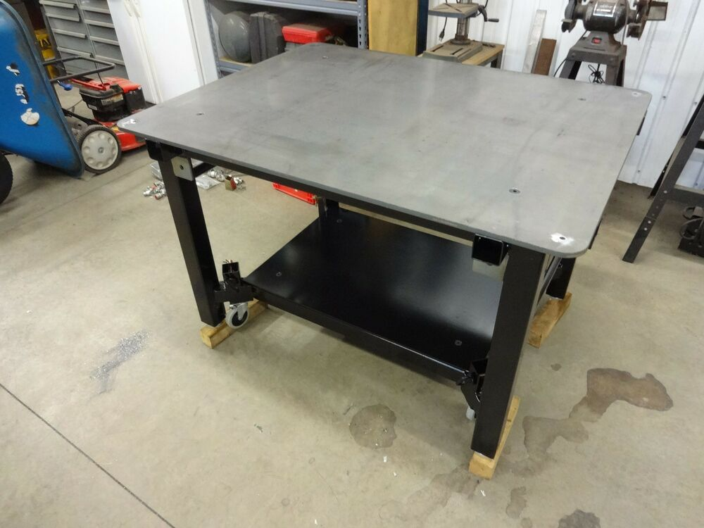 Welding table plans do it yourself ebay for Plan fabrication table