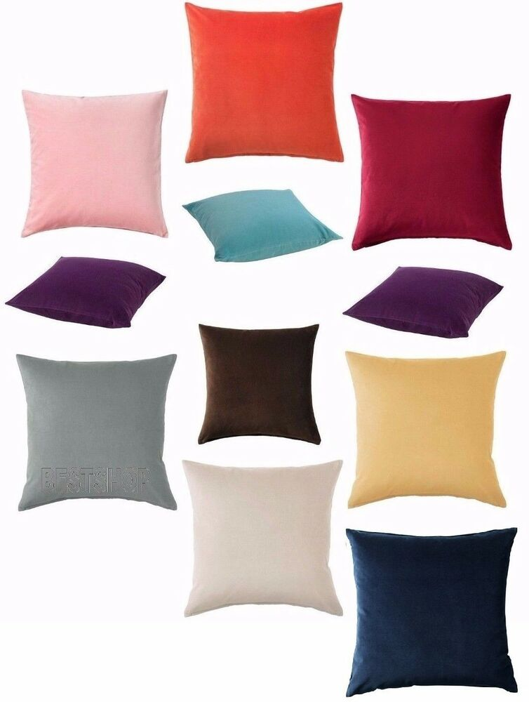 New ikea sanela cotton velvet cushion cover soft to touch for Ikea uk cushion covers