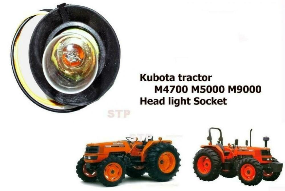 Tractor Light Sockets : Use for kubota tractor m head light