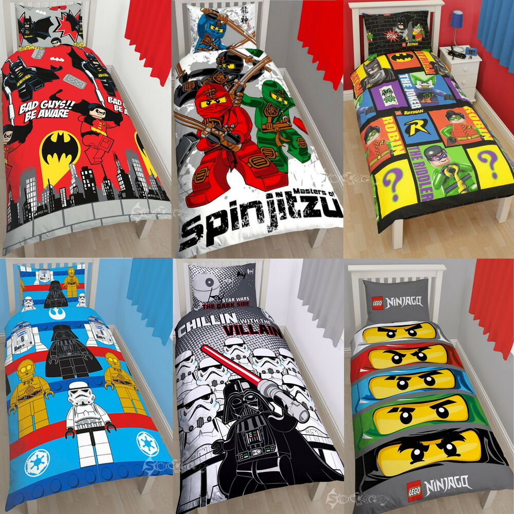 Official Lego Single Panel Duvet Cover Bed Set Movie ...