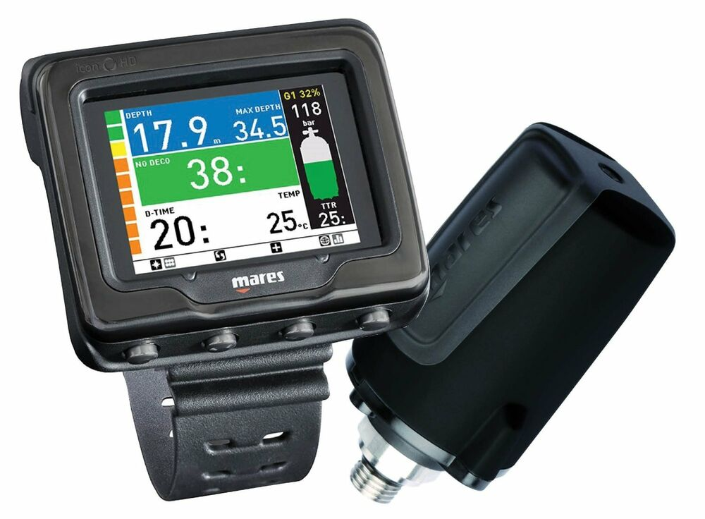 Mares icon hd w transmitter net ready wrist mount dive for Dive computer wrist