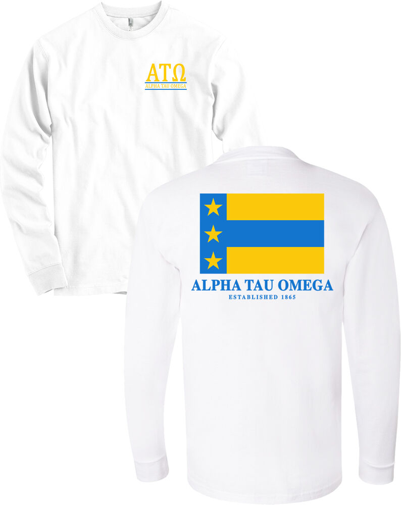 Alpha tau omega fraternity flag american apparel long for American apparel sorority shirts