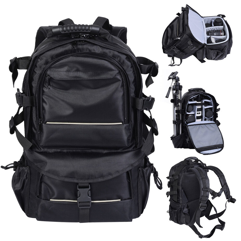 Multifunctional Deluxe Camera Backpack Bag Case Sony Canon Nikon ...