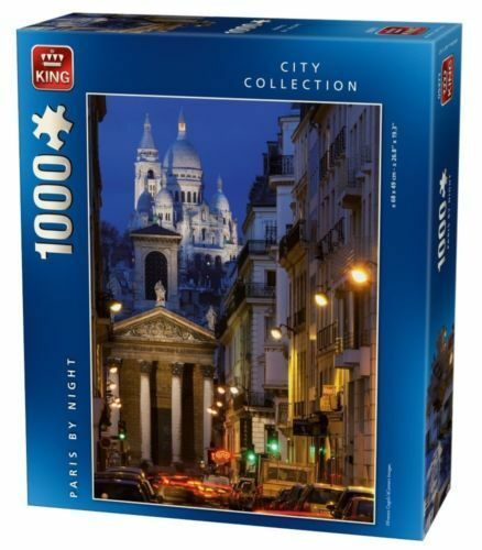 PARIS FRANCE BY NIGHT 1000 Piece City Collection Jigsaw