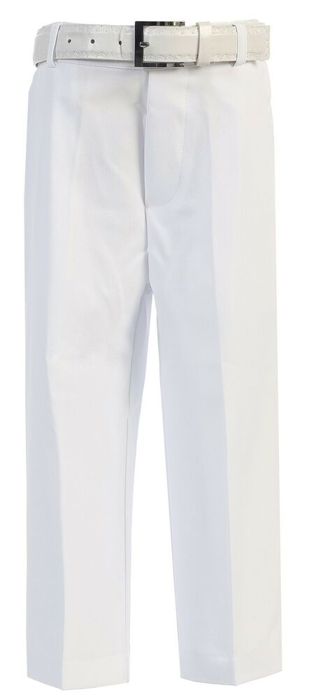 Rated 4 out of 5 by Romney from Very nice pants Bought one khaki and one black pair of these pants for 10 (nearly 11) year old grandson. He needed something more for dress occasions. Started with a size 12 Regular boys and ended up with a size 14 Husky. Washed pants once prior to .