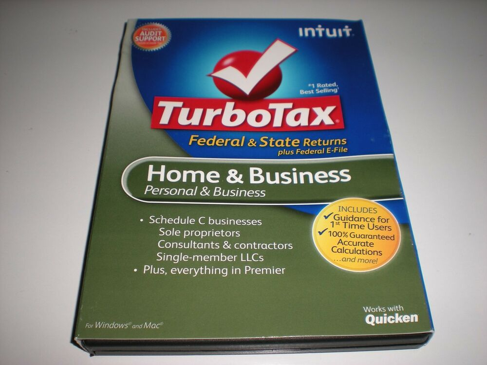 Turbotax home and business fed e file state 2012