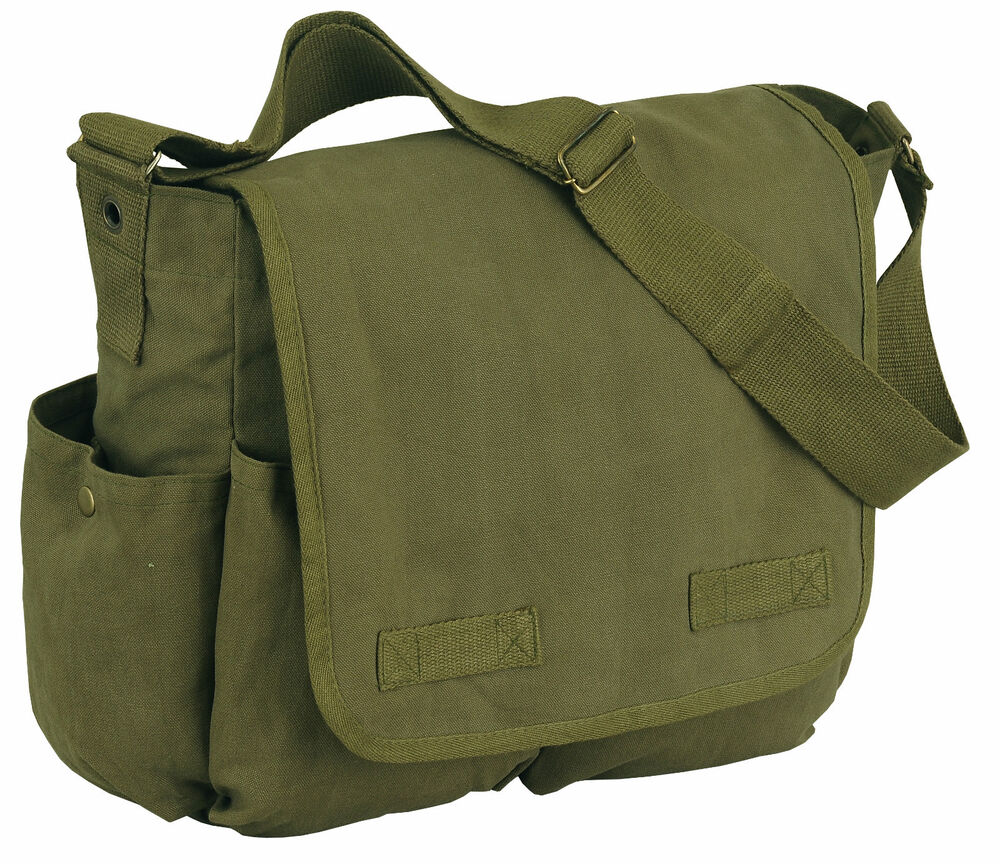 Vintage Classic Army Messenger Heavy Weight Shoulder Bag 96