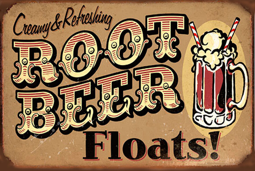 beer root sign vintage
