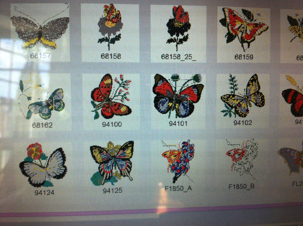 Butterfly embroidery designs for brother machine pes