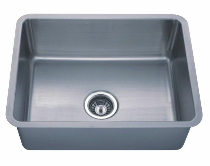 Undermount square stainless steel single bowl kitchen sink - Square stainless steel bathroom sink ...