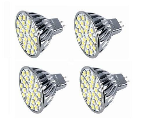 pack of 4 led bulbs mr16 led cool white 120v bi pin gx5 3 g5 3 base ebay. Black Bedroom Furniture Sets. Home Design Ideas